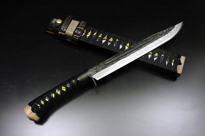 土佐維新狩猟刀 海宴刀【青】【柄・鞘巻】