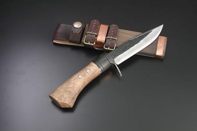 土佐アウトドア剣鉈120 青2 黒槌 黒ツバ輪