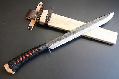 土佐維新狩猟刀 海宴刀【紅】【鞘白木】