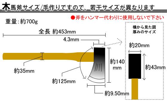 木馬斧サイズ