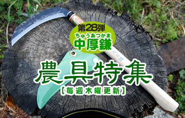 農具特集 第二十八弾 中厚鎌(ちゅうあつがま)