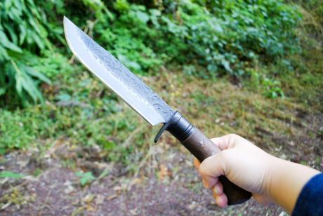 土佐鍛造剣鉈両刃170白鋼