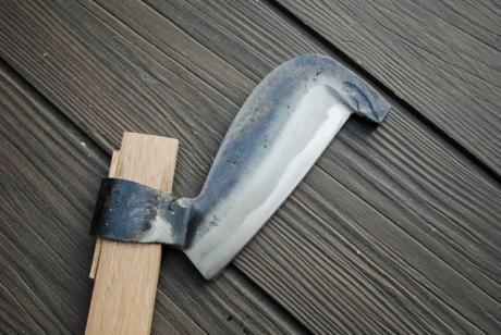 角ヒツ鉈 ‐柄鎌‐  60cm柄  370g鋼