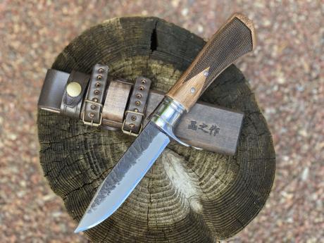 土佐アウトドア剣鉈120 青2 黒槌 ステンツバ輪