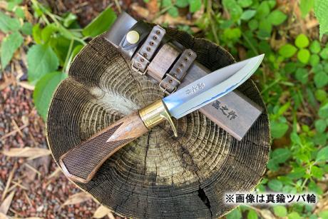 土佐アウトドア剣鉈120 青2 磨き ステンツバ輪